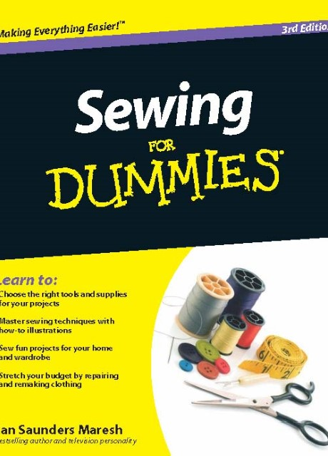 Sewing for Dummies 3rd Edition - Jan Saunders Maresh